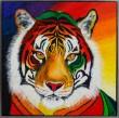 Annette Majgaard, 'Privy Tiger', akryl på lærred