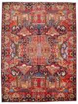 Persian hand-knotted figural carpet, 383x294 cm