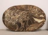 Oval marmorskiva, 100 x 62 cm