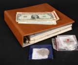 Mønter og sedler , inkl. flere 200 kroner sølvmønter
