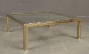romeo rega 70er jahre couchtisch italien glas messing. Black Bedroom Furniture Sets. Home Design Ideas