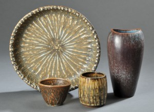 rørstrand keramik Rørstrand & Arne Bang. Fire dele keramik. (4) | Lauritz.com rørstrand keramik
