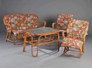 kurvemøbler Kurvemøbler, sofa, bord og et par stole (4) | Lauritz.com kurvemøbler