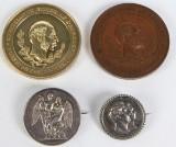 Diverse mønter/medaljer. (4)