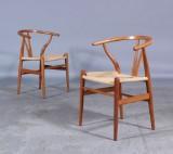 H. J. Wegner. Par Y-stole, kirsebærtræ (2)