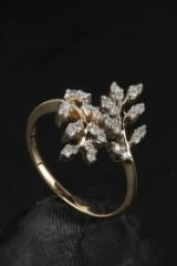 Diamantring, ca. 0.40 ct. af 9 kt. guld
