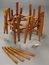 Kaare Klint. Fire stel til safaristol af asketræ (4)