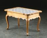 Sofabord med hollandske fliser 17/1900-tallet