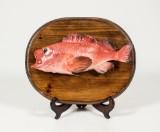 Uppstoppade fiskar 4 st av Åke Bursell(4)