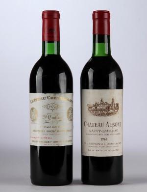1 fl. Chateau Cheval Blanc 1973 og 1. fl. Chateau Ausone 1969 2