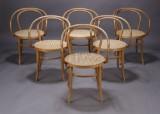 Armstole, Wienerstil, formbøjet bøgetræ (6)