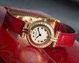 Cartier damearmbåndsur, model Vendome de Cartier med brillanter