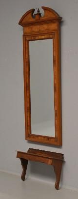 Spejl og konsol af mahogny. 1800-tallets slutning. (2)