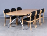 Conference table and armchairs (7)