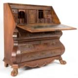 Schreibsekretär im Barockstil, wohl 2. Hälfte des 19. Jahrhundert, Nussbaumwurzelholz