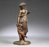 Antoine Pierre Aubert. 'Amor og Psyche', skulptur af bronze