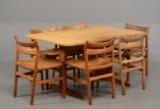 Børge Mogensen shakerbord med 6 stole model BM1 (7)
