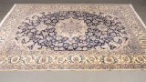 Hand-knotted Persian carpet, Nain, with silk outlines