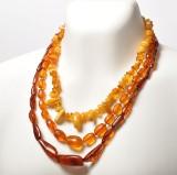 3 vintage halskæder med ravperler (3)