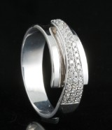 18kt diamond ring approx. 0.35ct