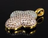 750er Kreuzform Anhänger mit Diamanten