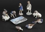 Bing og Grøndahl, samling porcelæns figurere (9)