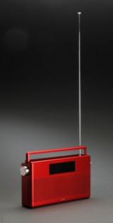 Geneva Lab model World Radio, rød.