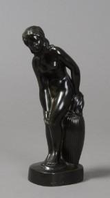 Just Andersen, diskometal, kvinde skulptur, nr. D 2300