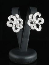 14kt diamond earrings approx. 2.07ct