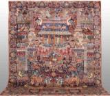 Carpet, figural Kashmar, 390 x 303