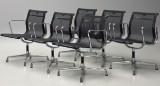 Charles Eames. A set of six chairs, model EA 108, mesh (6)
