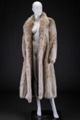 Pale lynx coat, size 40/42, labelled Brdr. Alex Petersen