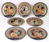 En samling Wiinblad Rosenthal juleplatter bestående af 7 stk. (7)