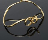 Georg Jensen, Forget-Me-Knot bangle, 18 kt. gold, size M