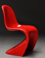 Verner Panton. Frisvinger stol 'Panton Chair'