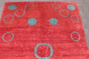 teppich wolle auf baumwolle ca 203 x 144 cm. Black Bedroom Furniture Sets. Home Design Ideas