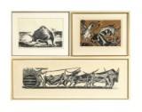 Karl Heinz Hansen-Bahia, drei Holzschnitte (3)