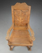 Armstol af egetræ 1700/1800-tallet
