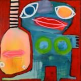 Ubekendt kunstner. Olie på lærred, figurkomposition