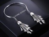 Astrid Fog for Georg Jensen. 'Archive' necklace, sterling silver