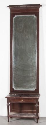Spegel med konsolbord sekelskiftet 1900