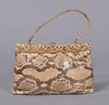 Vintagetaske af slangeskind