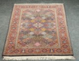 Signed Persian Keshan rug, 182 x 113 cm