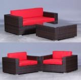 Havemøbler. Lounge sæt med sofa, stole samt bord (4)