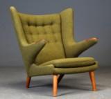 Hans J. Wegner. Easy chair, 'Papa Bear chair', model AP19