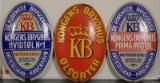 Emaljeskilte, 'KB Kongens Bryghus', 'KB Kongens Bryghus Hvidtøl' & 'Kongens Bryghus Prima Hvidtøl' (3)