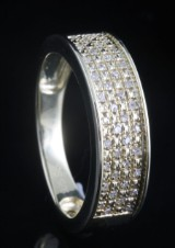 Goldplated diamond ring approx. 0.13ct