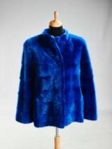 Copenhagen Fur. Blue mink coat, size 38