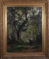 Eugène Berthelon, oil on canvas, forest landscape