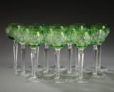 En samling Böhmiske vinglas af krystal (12)